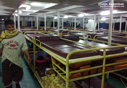 Passengers of the M/V Lady of Miraculous Medal asleep during a trip (Shot on June 15, 2013 by Anjo Bagaoisan)