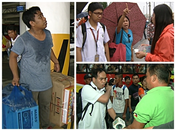 Commuters react to the implementation of the Southwest Integrated bus terminal (Shots by Nestor Prillo & Evart Villar, ABS-CBN News)