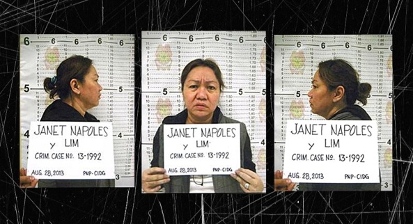 Mug shots of Janet Lim-Napoles (Courtesy: Philippine National Police)