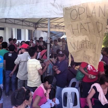 Waiting area for Oplan Hatid at Villamor Airbase (Shot by Niko Baua)
