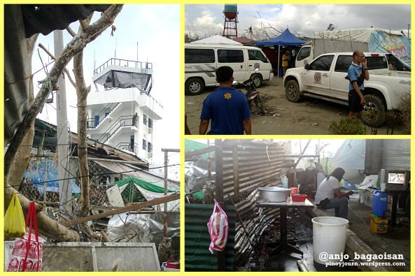 Scenes from the ABS-CBN News satellite setup at the Tacloban City Airport after Typhoon Yolanda (Shots by Anjo Bagaoisan)