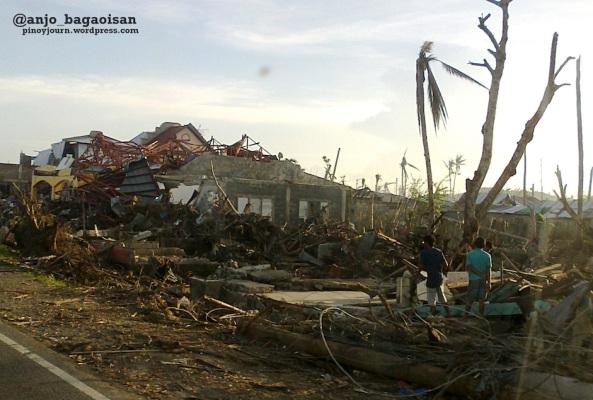 Destruction of typhoon Yolanda in Palo, Leyte. (Shot by Anjo Bagaoisan)