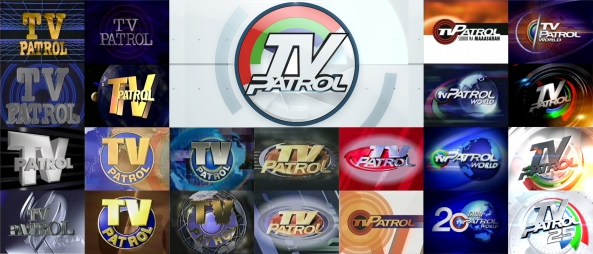 Collage of TV Patrol logos from 1987 to 2014