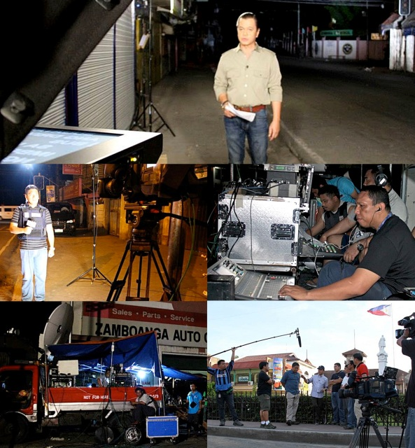 Scenes from TV Patrol's on-site coverage of the MNLF-Misuari siege in Zamboanga on October 2013 (Shots by Val Cuenca)