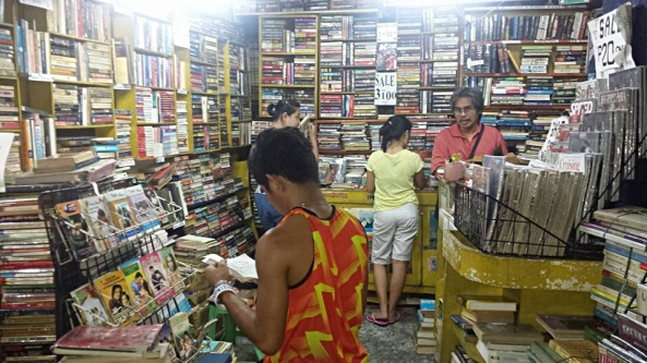 Juleric Bookshop in Guadalupe Commercial Building in Makati and its owner Ed