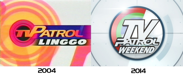 TV Patrol Weekend's first and current logos 2004 & 2014