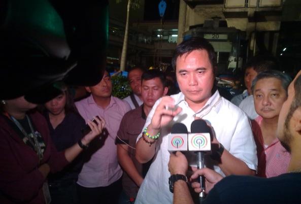DOTC Sec. Abaya on-cam for TV Patrol. (Shot by Anjo Bagaoisan)