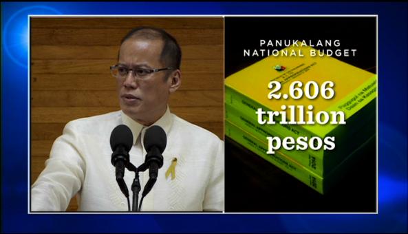 A graphic accompanies President Aquino's 2014 SONA in HD (Courtesy: Radio TV Malacanang)