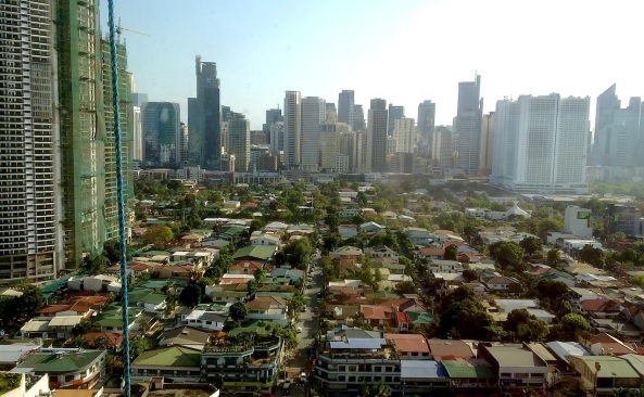 Makati City skyline seen from Makati City Hall's 21st floor (Shot by Anjo Bagaoisan)