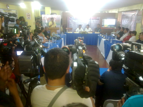 PDRRMC press con in Ilagan City after Chedeng (Shot by Anjo Bagaoisan)