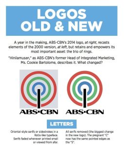 INFOGRAPHIC: What's different between the 2000 and 2014 ABS-CBN logos? (click to enlarge)