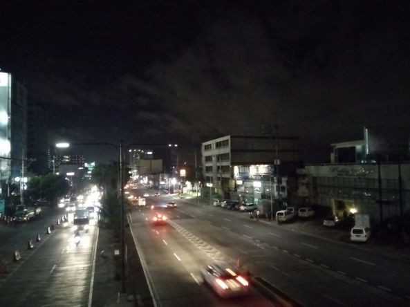 Night shot of Quezon Avenue. (Shot by Anjo Bagaoisan)
