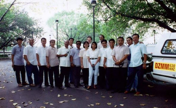 Radyo Patrol reporters in the early 1990s. Courtesy ABS-CBN