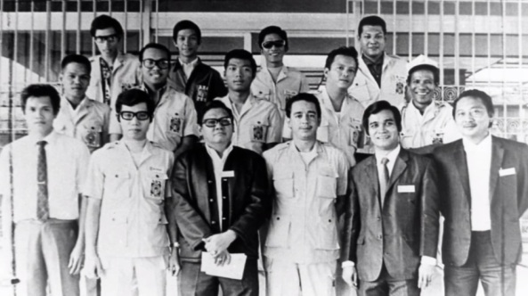 The pre-Martial Law Radyo Patrol, which included later broadcast icons Orly Mercado and Ernie Baron (Courtesy: ABS-CBN)