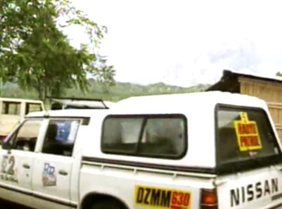 DZMM Radyo Patrol mobile caught during the Mount Pinatubo eruption (Courtesy: ABS-CBN)