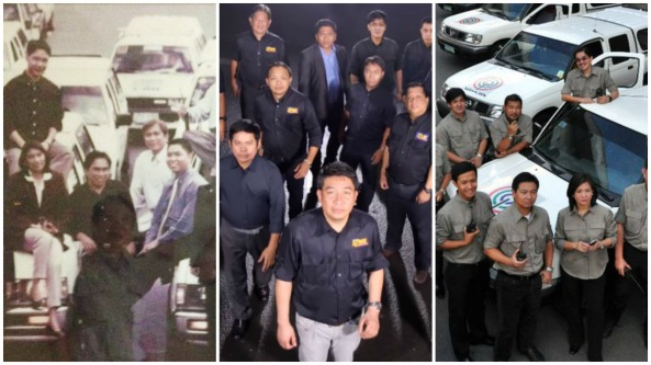 Collage of various DZMM Radyo Patrol reporters in group poses