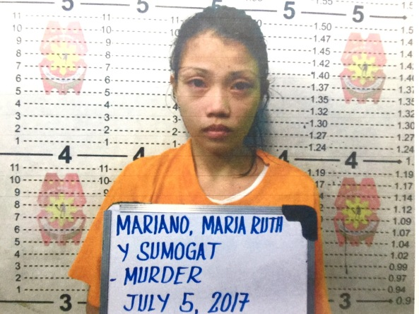 Mugshot of Maria Ruth Mariano, suspect in the killing of Pao Agustin (Shot from Caloocan City PNP)