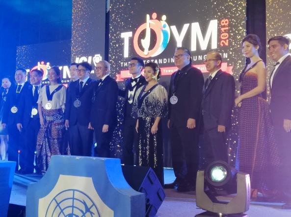 Previous TOYM awardees honored at a JCI event. Shot by Anjo Bagaoisan.