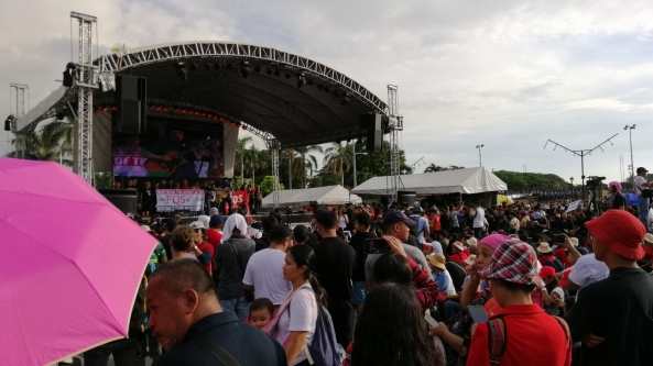 The stage set in Luneta at the United People's Action rally against martial law on Sept. 21, 2018. (Shot by Anjo Bagaoisan)
