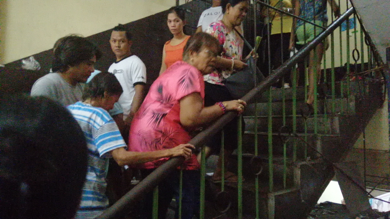 Elderly voters in Manila walk up stairs to their polling precincts on election day 2019 despite the existence of accessible polling places (Shot by Anjo Bagaoisan)
